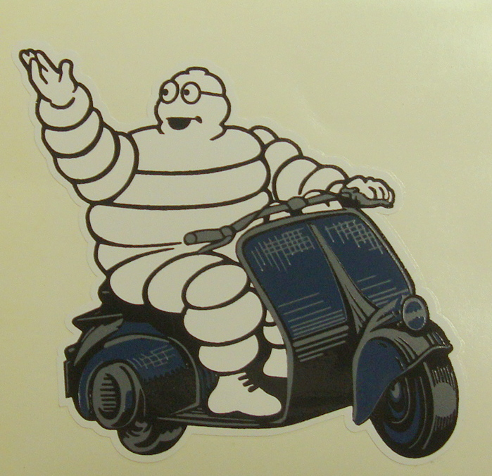 Sticker, MICHELIN man whit Vespa WASP