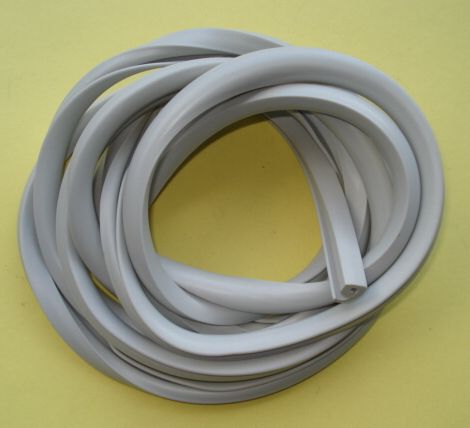 Rubber profil strip for cowl, light grey, Vespa 125 /150 / 160 / 180 / 200