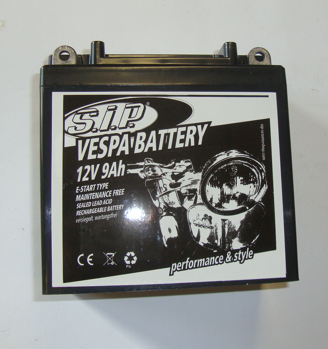 Battery 12V / 9Ah, YB9-B, Maintenace free, Vespa PX / PK