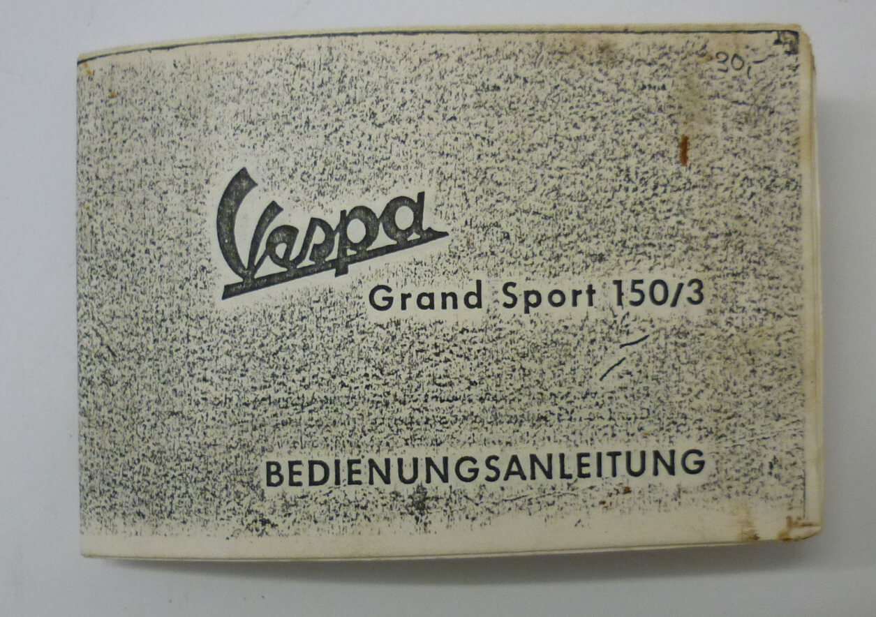 Manual, Vespa Grand Sport 150/3, used