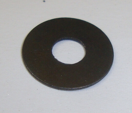 Spacer for front brake or clutch lever, lower, Ø 14x5,2x0,6 mm, Vespa 50 / 90 / 125 / 150 / 160 / 180 / 200