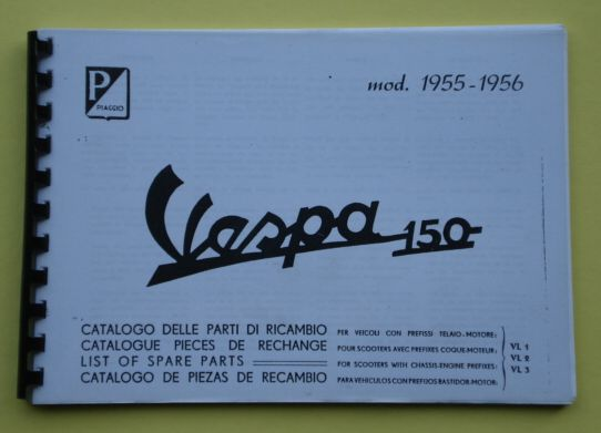 Spare parts catalogue, Vespa VL1 > VL3