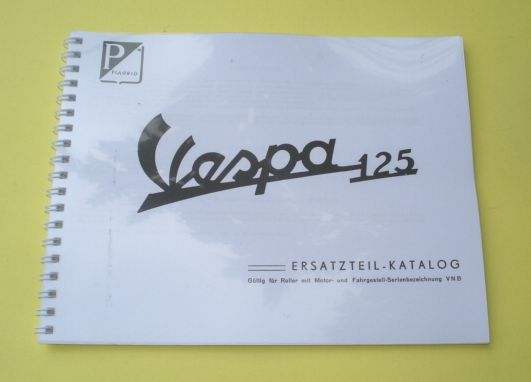Spare parts catalogue, Vespa 125 VNB