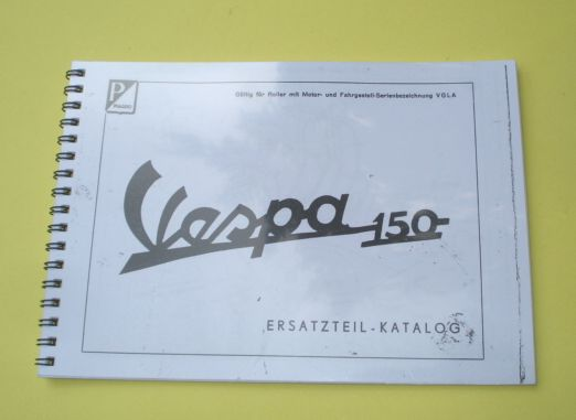 Spare parts catalogue, Vespa 150 VGLA