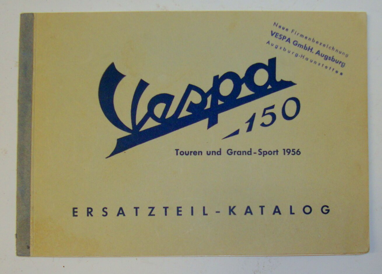 Spare parts catalogue Vespa