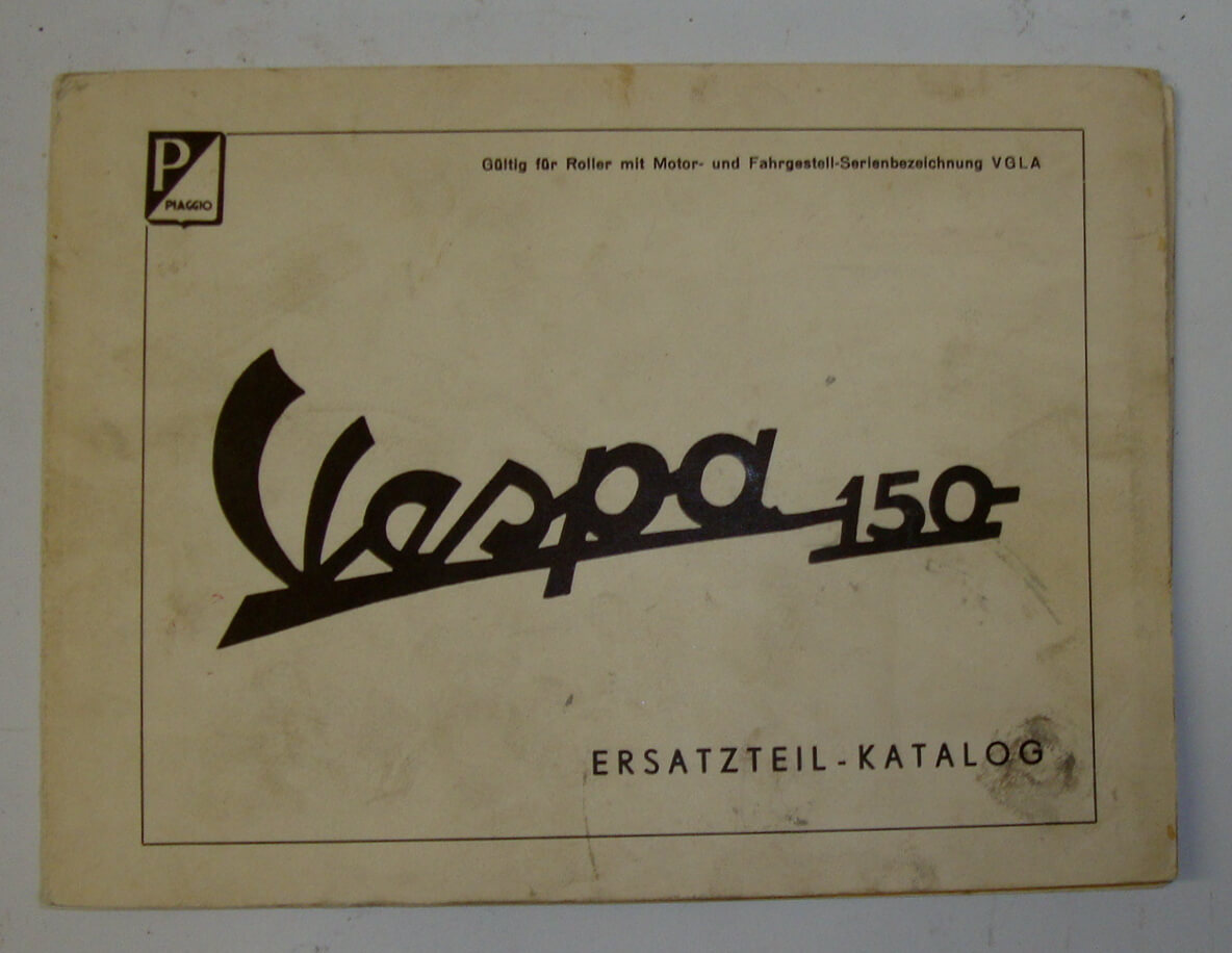 Genuine spare parts catalogue, Vespa 150 VGLA