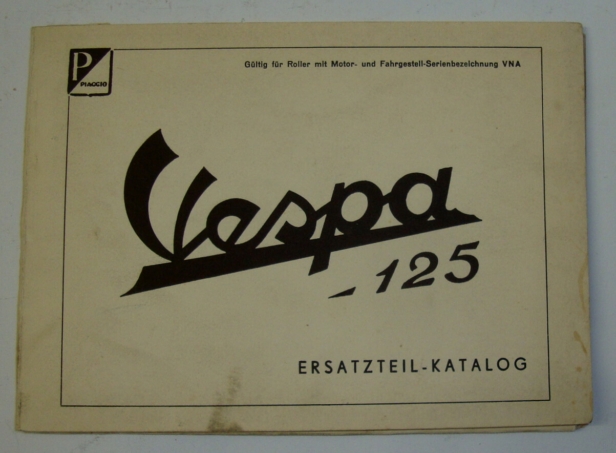 Genuine spare parts catalogue, Vespa 125 VNA