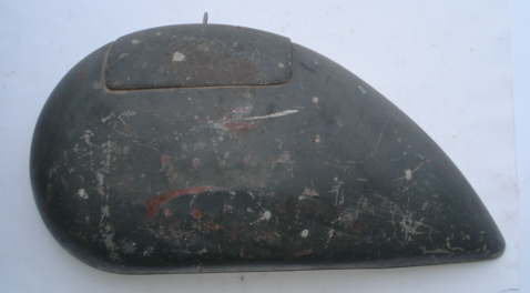 Side panel for spare wheel side, dark gey, Vespa 125 ACMA - Hoffmann