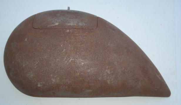 Side panel for spare wheel side, sand blasted, Vespa 125 ACMA