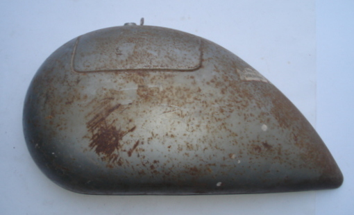 Side panel for spare wheel side, silver, Vespa 125 ACMA