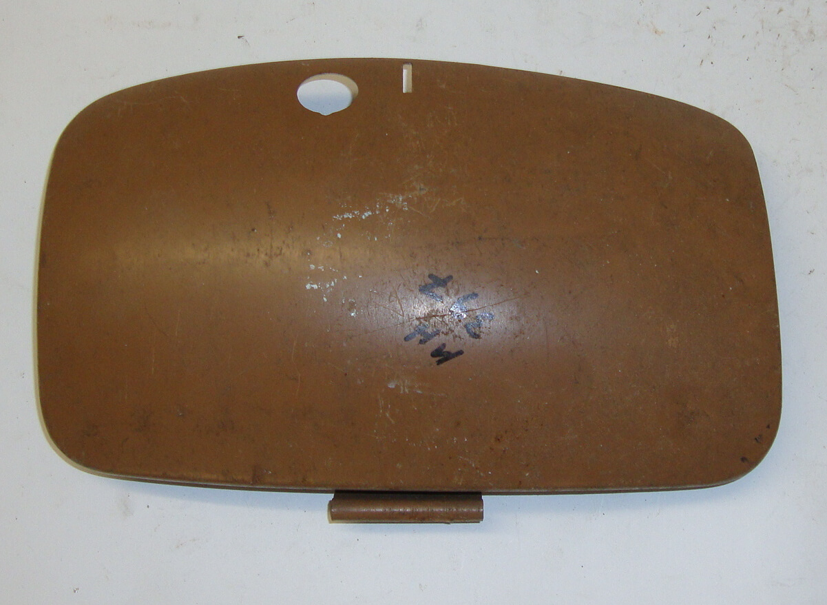 Flap spare wheel side panel, Vespa 125 VNB / 150 VBB - VBA - VGLA - VGLB, NOS