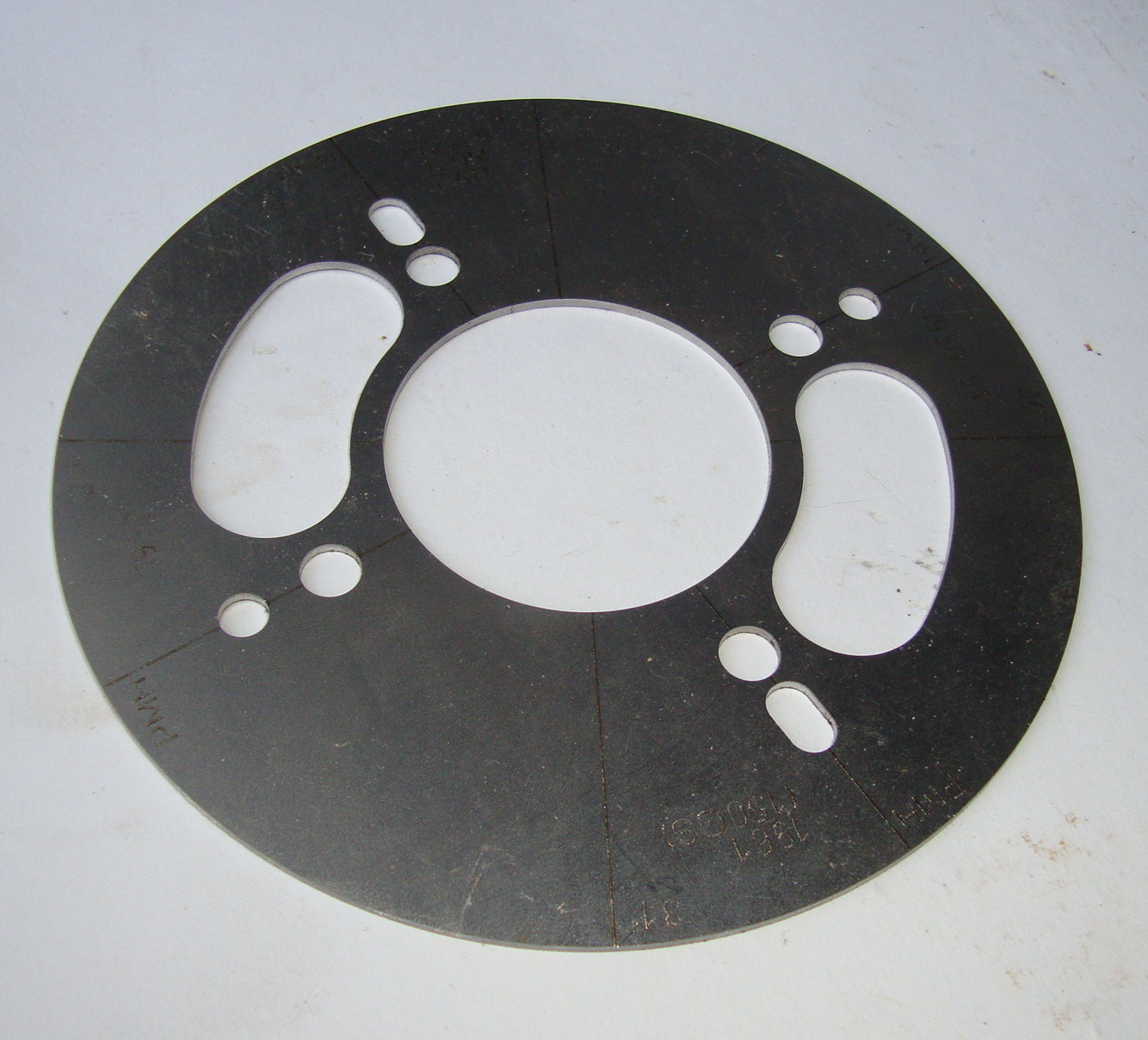 Ignition timing degree disc