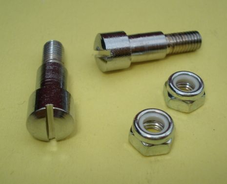 Lever sec. screw, chromed, Vespa 1963 > 1972