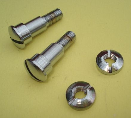 Lever sec. screw, chromed, Vespa 125 / 150 / 160