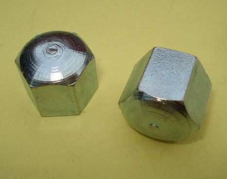 Hexagon - nuts M8 / 14, zinc plated for fixing saddle and luggage plate