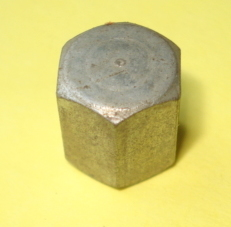 Hexagon cap nut , engine case, M 7