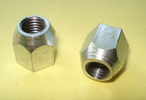 Kit hexagon nuts, dual seat locking plate, M9 / 14, zinc plated, Vespa GS 150