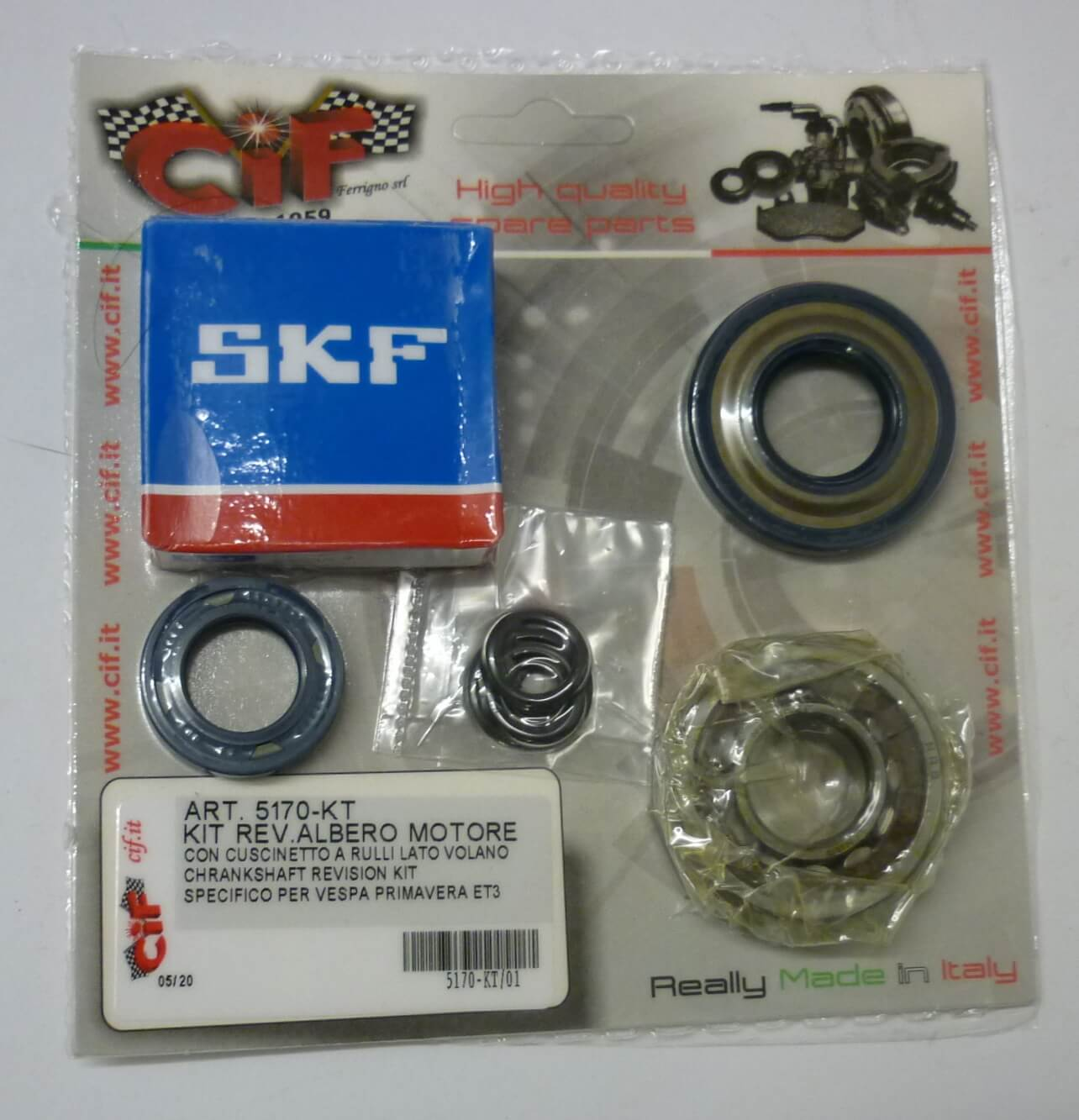 Kit crankshaft revision kit, Vespa 50 -125 Primavera - ET3