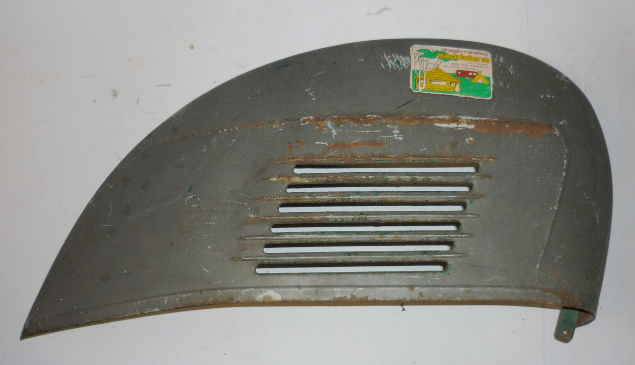 Engine cowl, grey - Ascot green, Vespa 125 t.s. - 150 Sprint Veloce, used