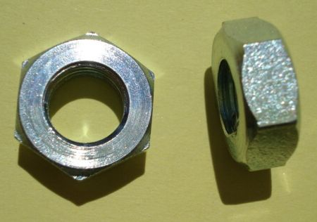 Hexagon - Nut M9 / 14 / 6 mm high, zinc plated