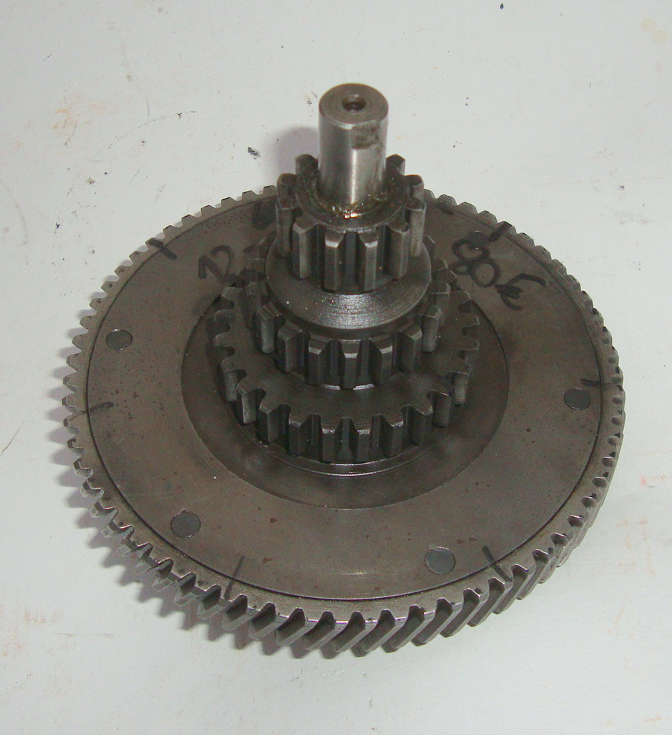 Spring gear assy., Vespa 150 / T3 VD2M,  12 - 18 - 25, used