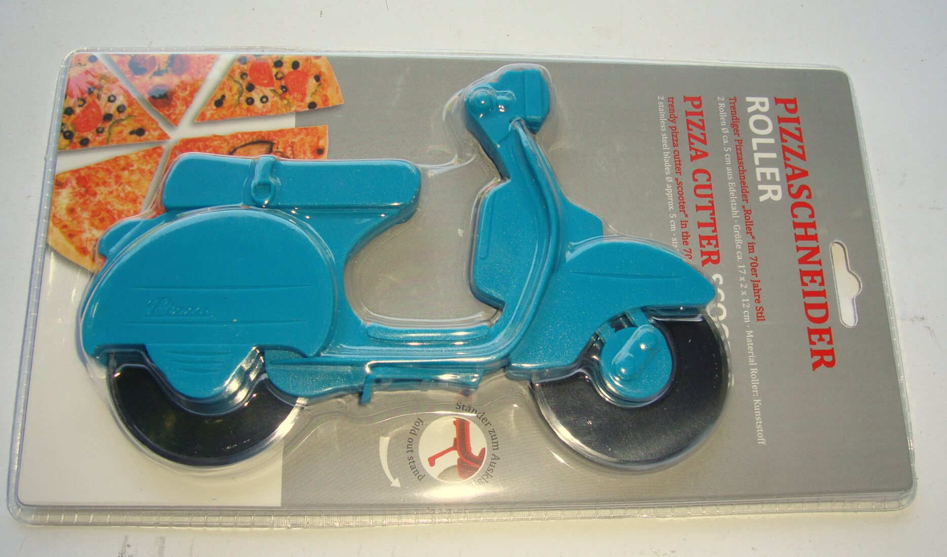 Pizza cutter scooter, turquoise