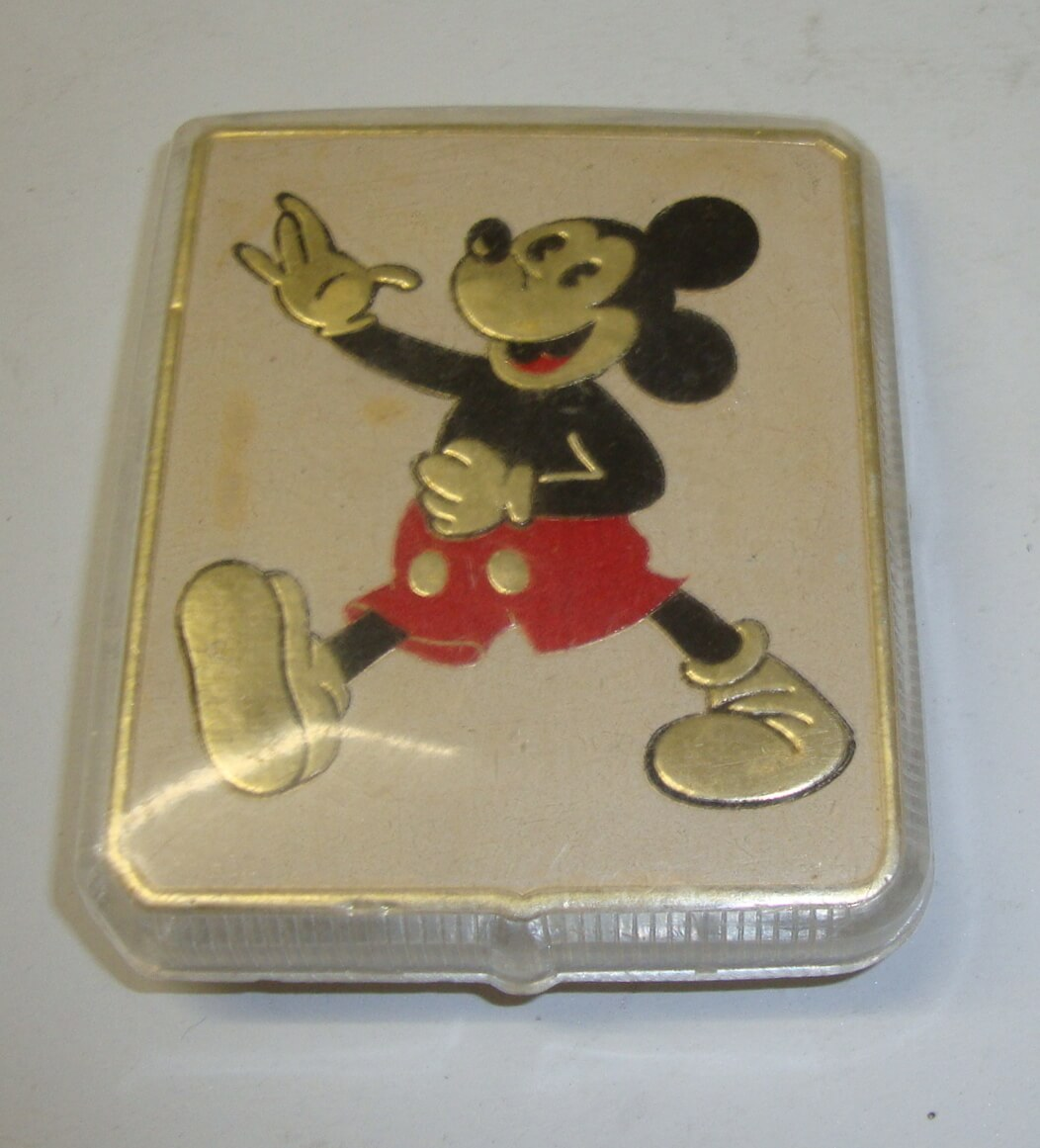 Badge, Mickey mouse, Targa LUXOR Metallizzata, NOS