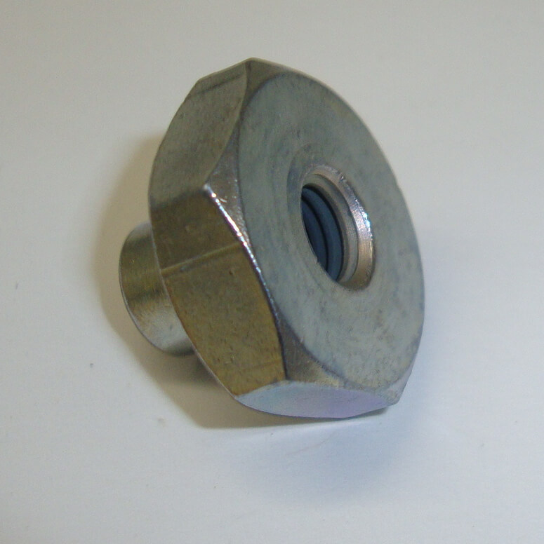 Wheel nut, M8 / SW 22, zinc plated