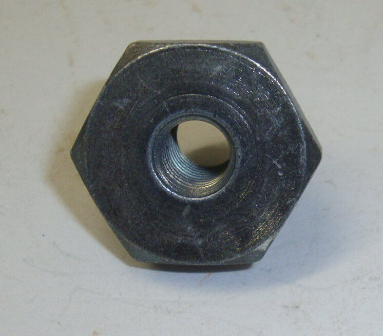 Wheel nut, M8 / SW 22, steel, patina