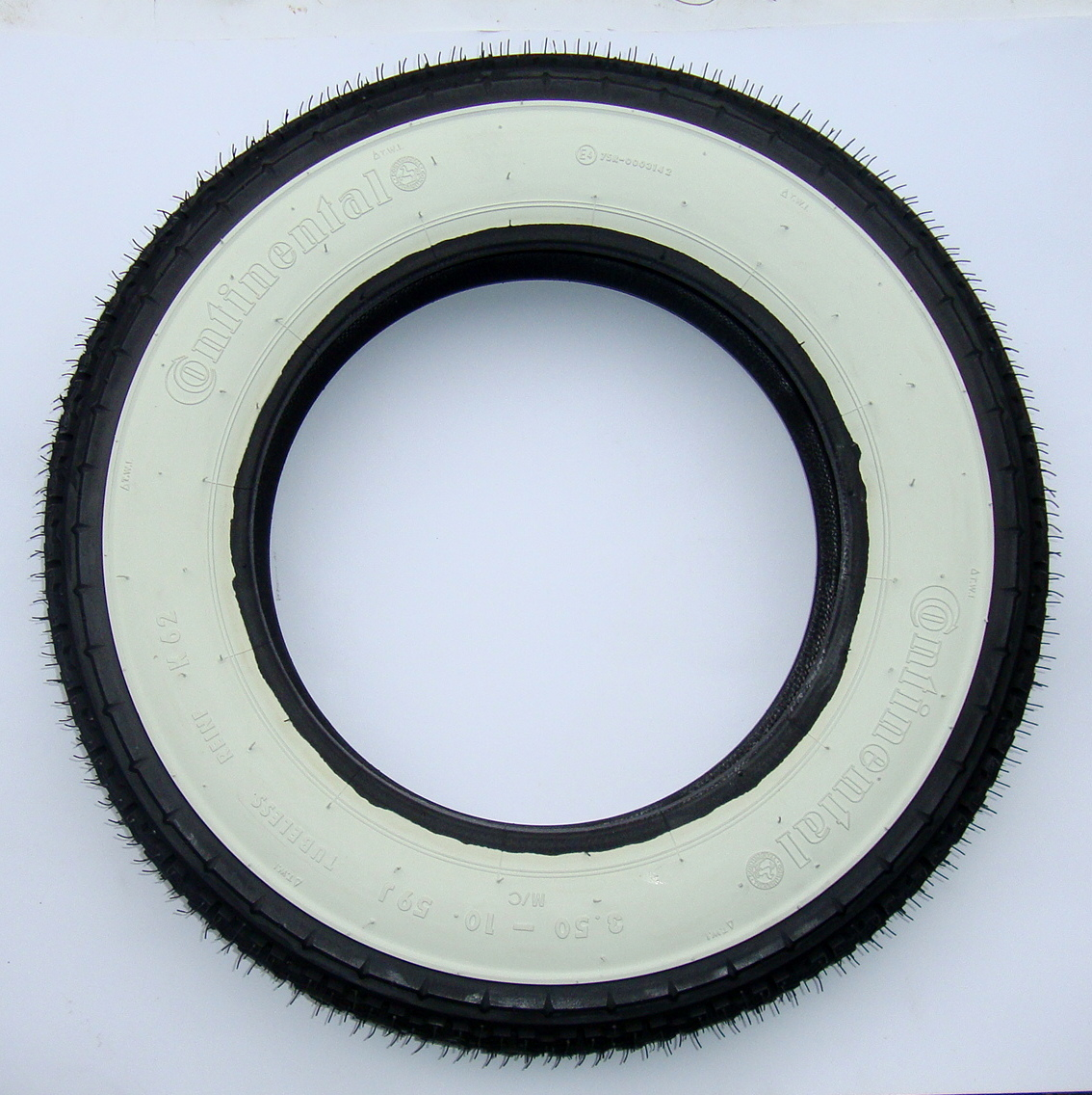 Whitewall tire, CONTINENTAL K62 WW, 3.50 x 10