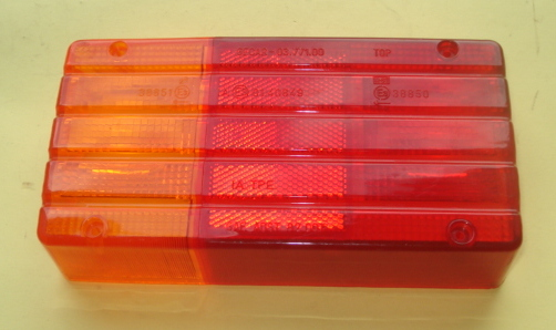 Left side taillight glass, GECAR, Ape TM