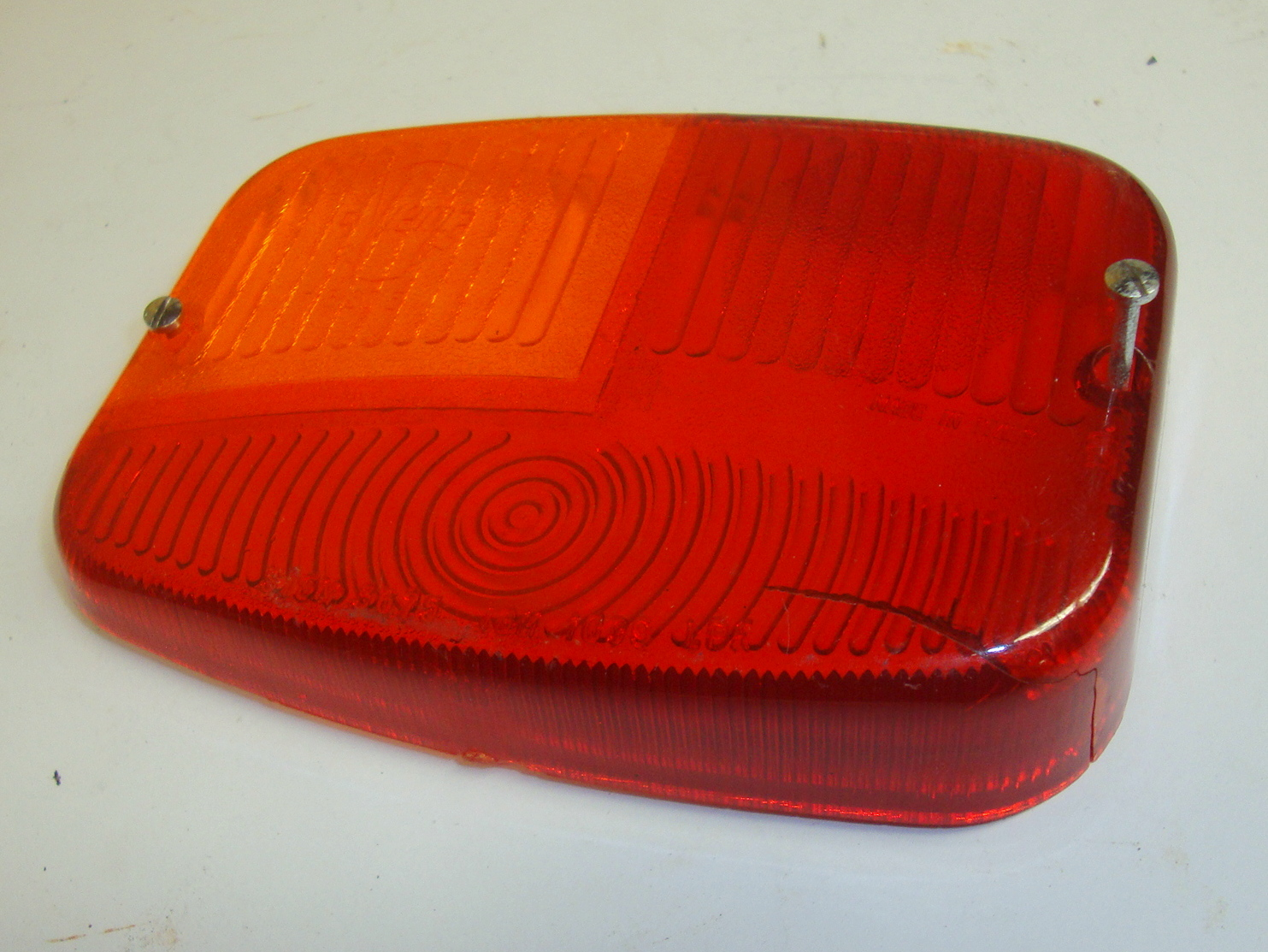 Left side taillight galss, SIEM, Ape 150 AC3T > AC4T / Pentaro APB1, NOS, small demage