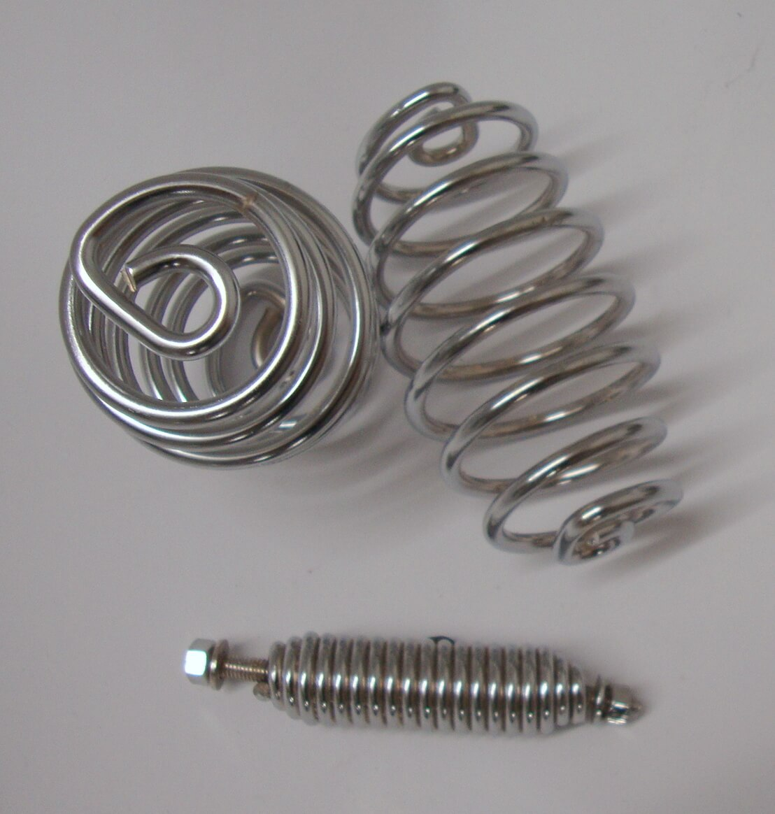 Springs kit, single saddle, chromed, Vespa 125 VM1T > VM2T - VN2T / Ape AB1T > AB4T