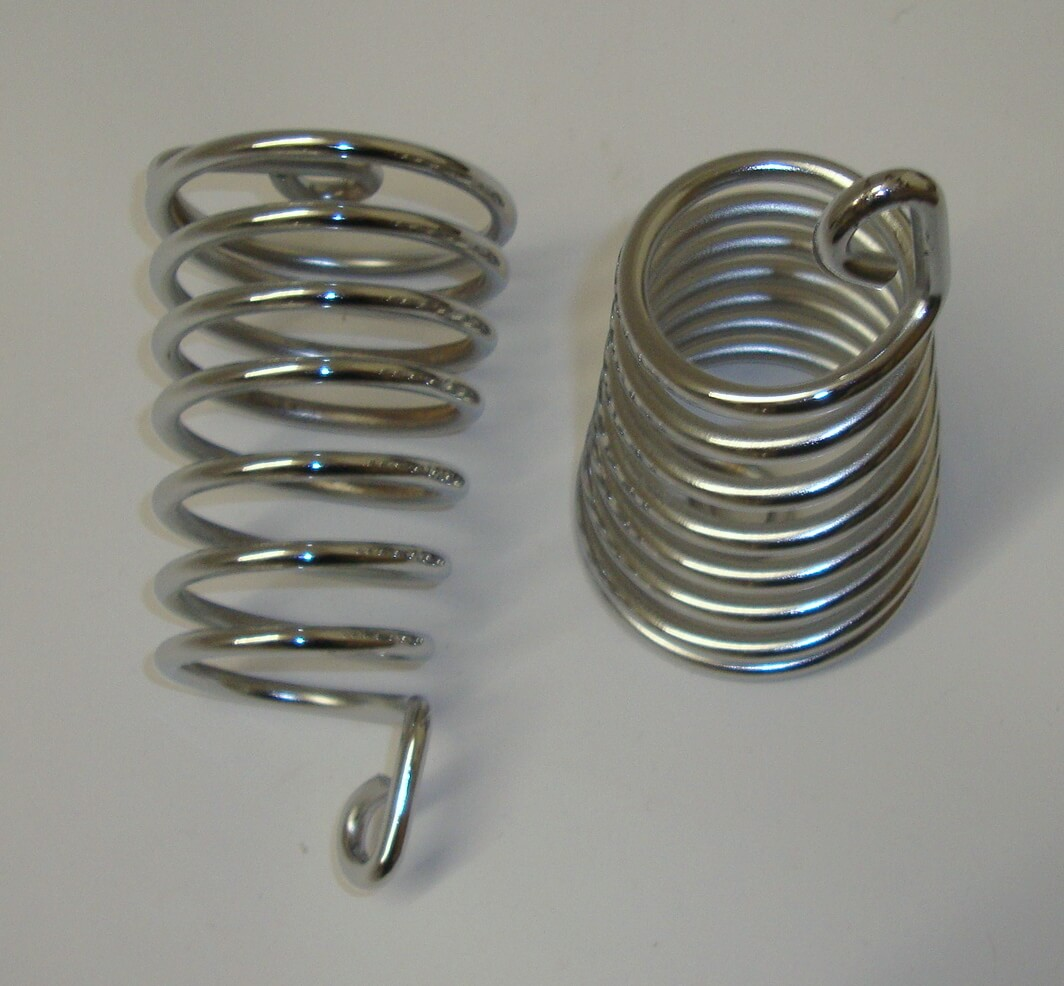 Springs kit, single saddle, chromed,  Vespa 125 V1T > V15T