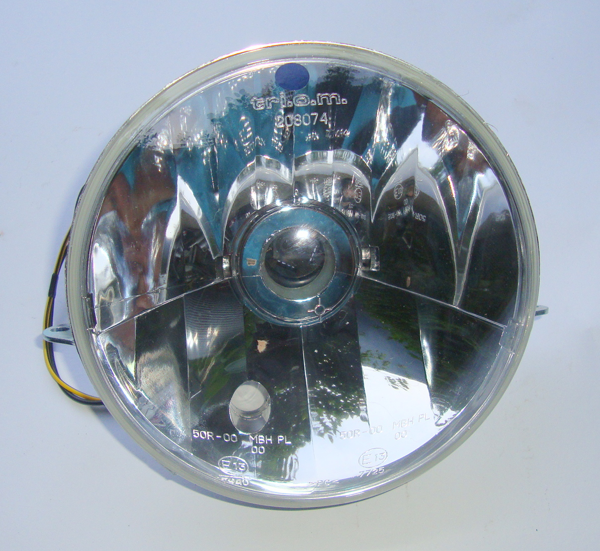 Headlamp set, clear glass, TRIOM, Vespa PX `98 / MY / `11
