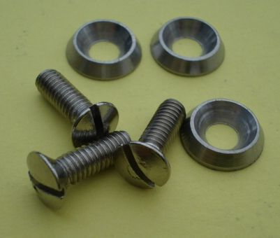 Kit screws and washer for rim, stainless steel