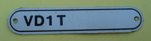 Type sign, Vespa 150 / T2, VD1T