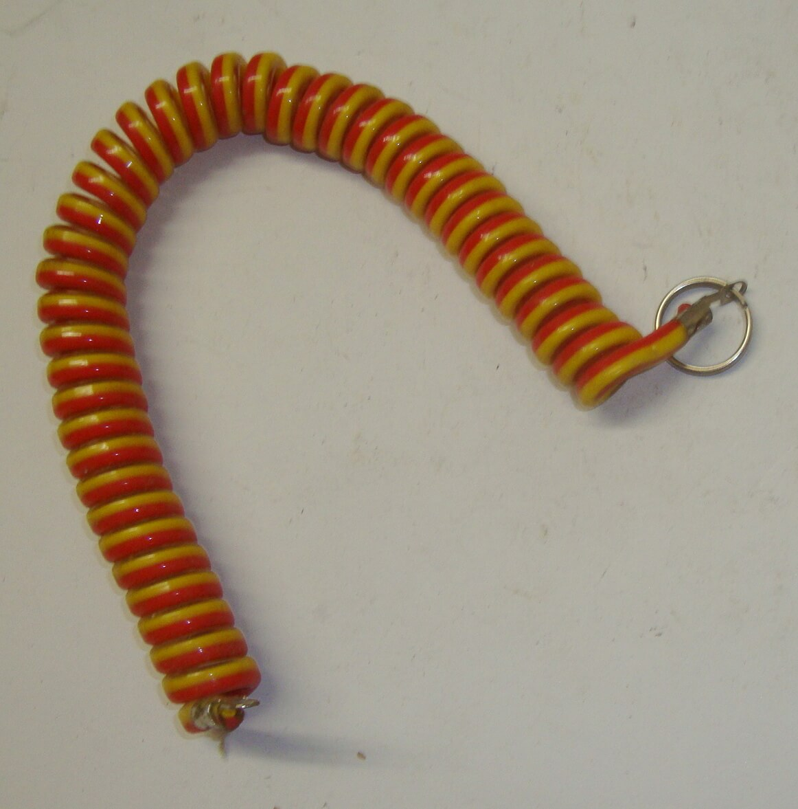 Key fob, coil, red yellow, Vespa, NOS