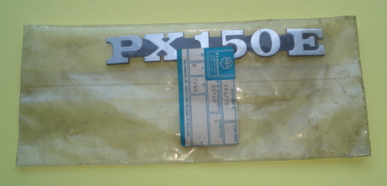 "Name plate, lateral, ""PX 150 E"""