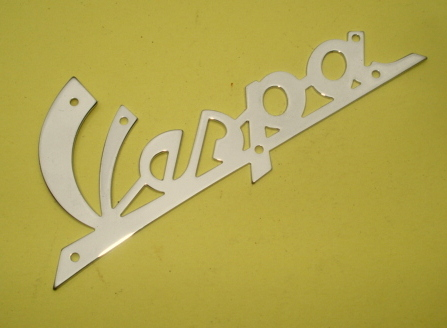 Name plate with holes, chromed,  Vespa 125 VNB1T > VNB4T >135617