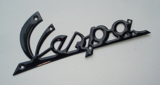 Name plate with holes, dark blue, Vespa 125 VNB1T > VNB3T - VNB4T > 135617