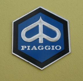 Piaggio-Logo, hexagon, medium size