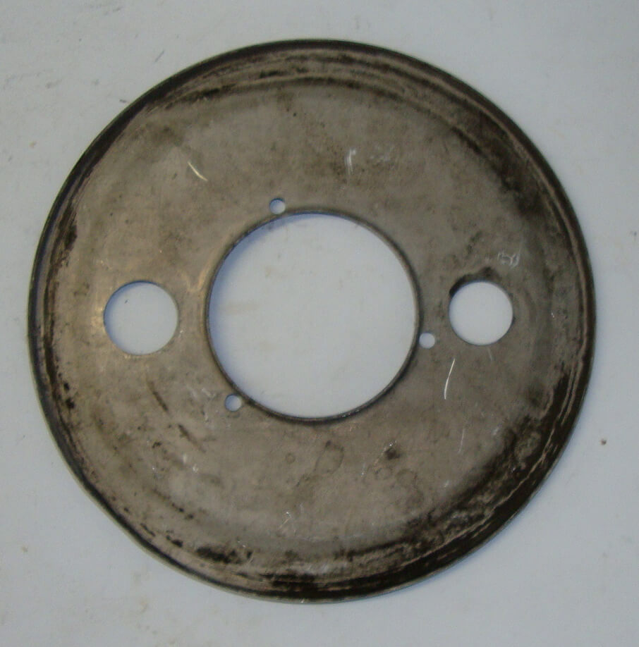 "Dust cover, 8"" 1 studs for brake shoes, Vespa 125 / 150"