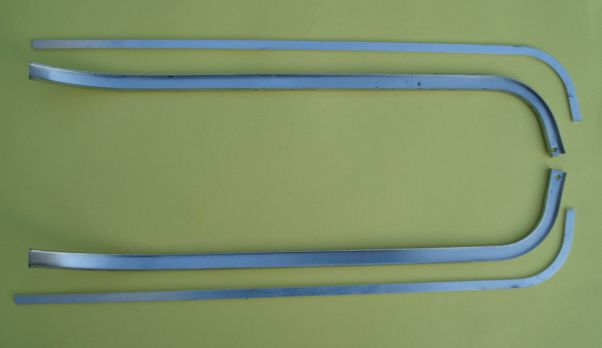 External aluminium beandings, left and right, Vespa 160 VSB1T