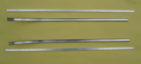 External aluminium beandings, left and right, Vespa 125 VNA1T > 68031