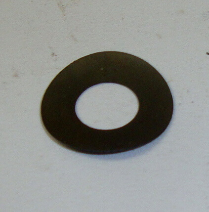 Shim for front brake or clutch lever, top, Ø 14x6,6x0,3 mm, Vespa 50 / 90 / 125 / 150 / 160 / 180 / 200