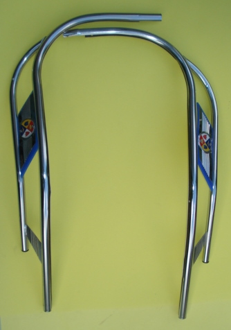 Legshield trim, double, Vespa 125 / 150
