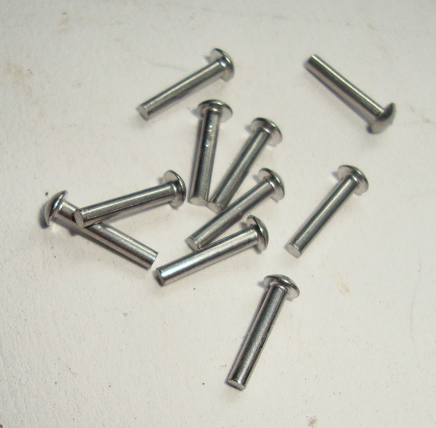 Kit rivets for name plate, 1,2 x 8 mm