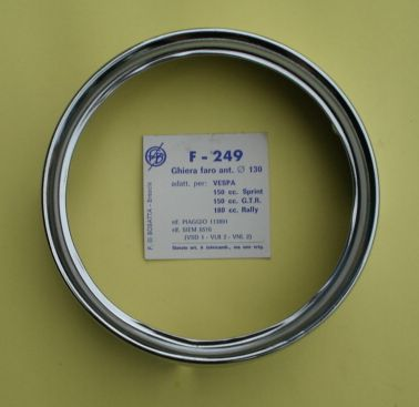 Rim for headlamp, BOSATTA,Vespa 125 GTR / TS / 150 Sprint Veloce / 180-200 Rally