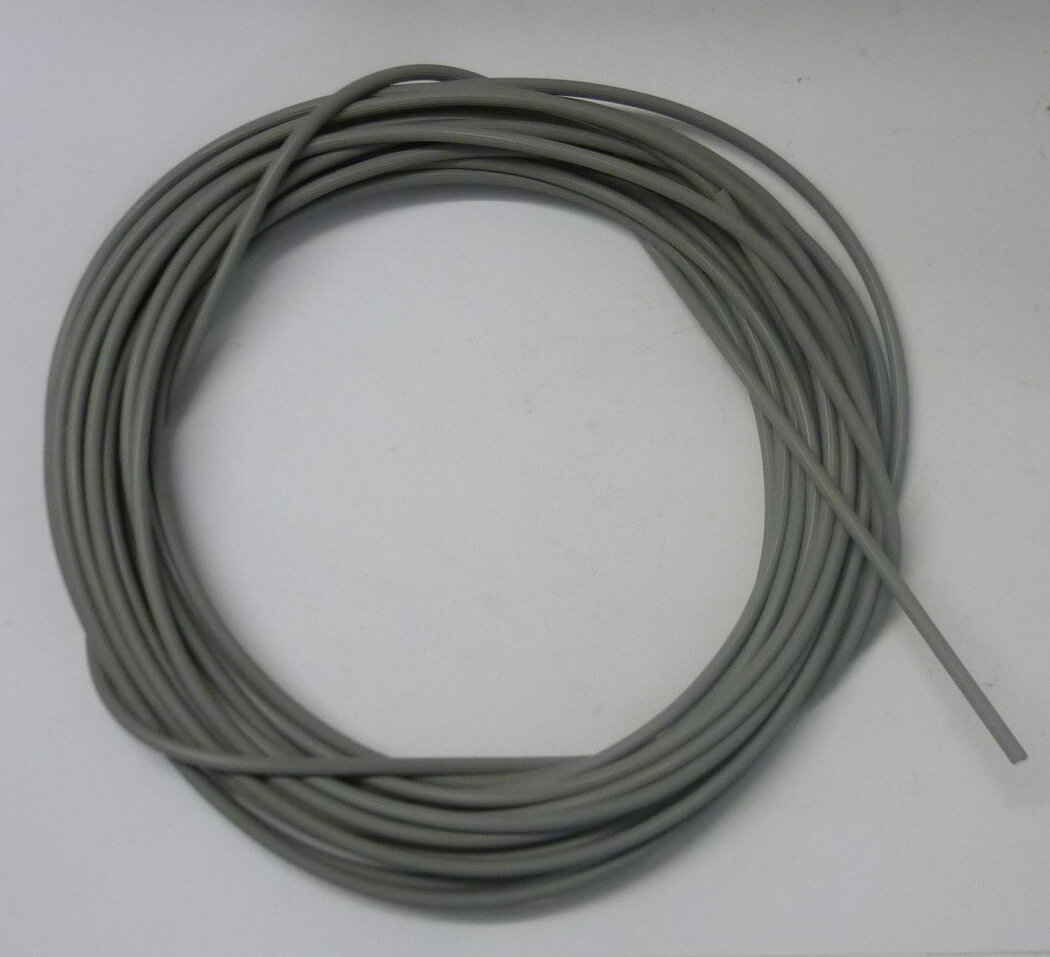 Cable sleeve, Vintage, grey, 4,4 mm